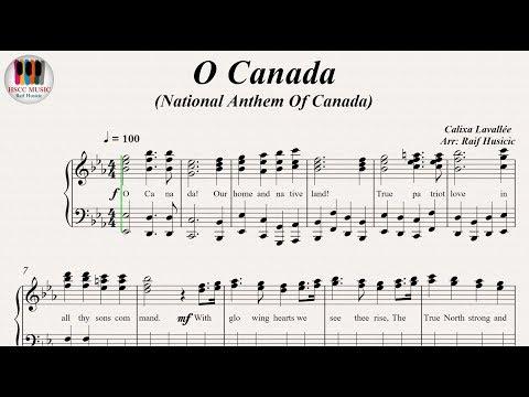 O Canada (NationalAnthemOfCanada), Piano