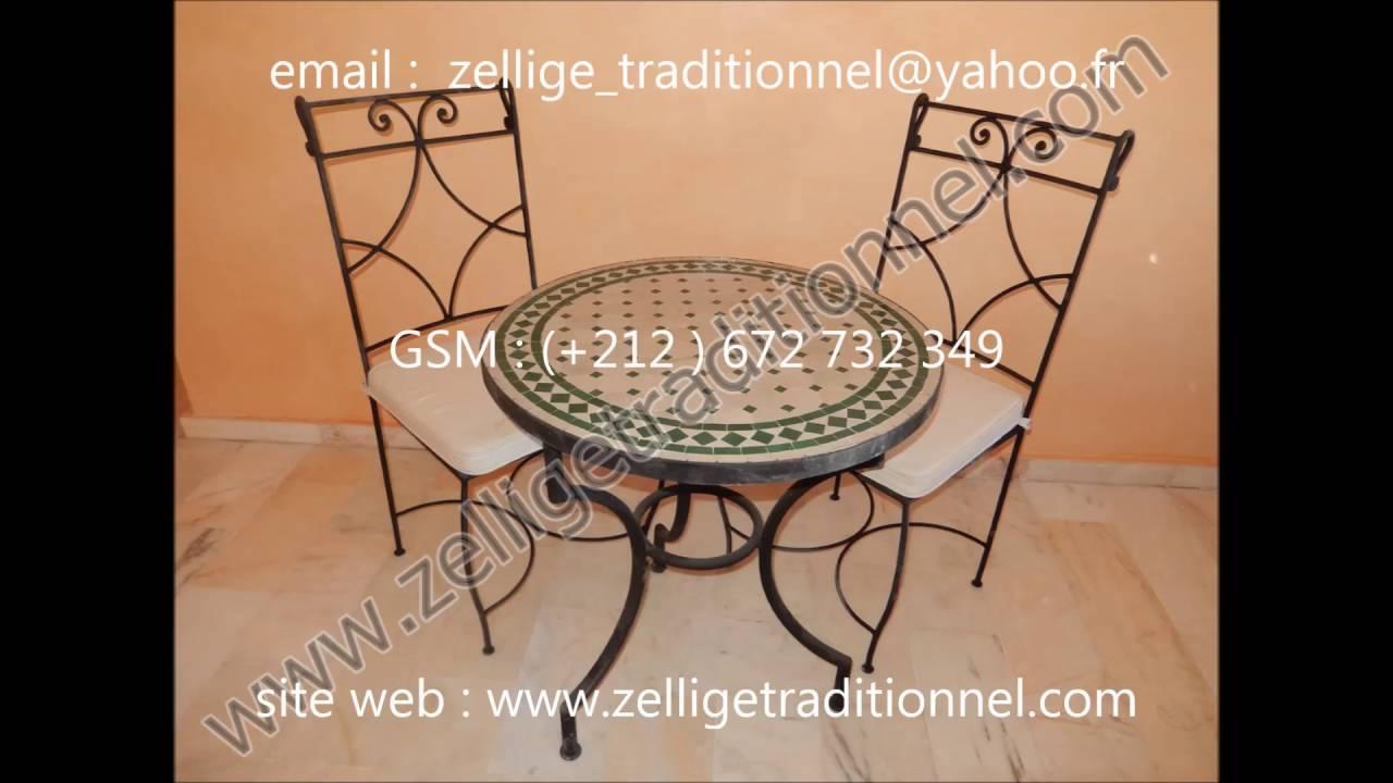 , création de tables rondes et rectangulaires en zellige
