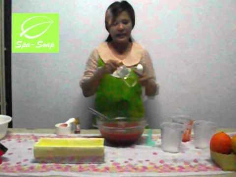 สอนทำสบู่สมุนไพร1(สูตรฟักข้าว)