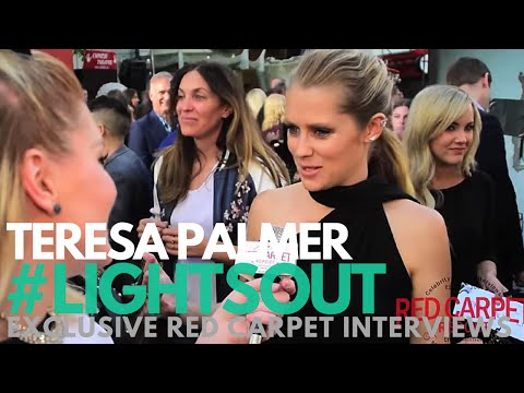 "Teresa Palmer ""Rebecca"" interviewed at the ""Lights Out"" Premiere #‎LightsOut"