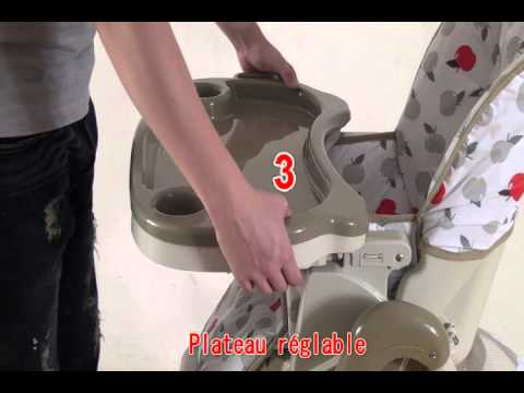 Chaise haute multipositions youtube - Chaise haute aluminium ...