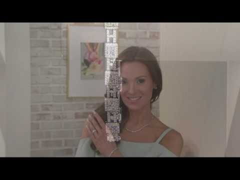 Baguette & Round Diamond Tennis Bracelet 14K Gold by Affinity on QVC