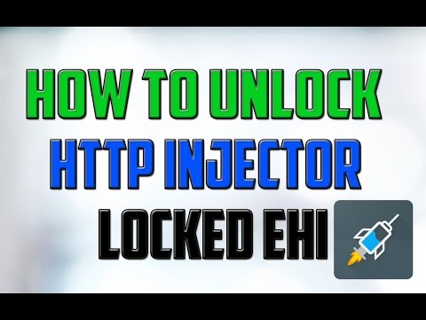 How to Unlock the Http injector Locked Ehi #Unlock ehi file easily