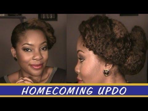 Natural Hair | Homecoming/ Formal Updo