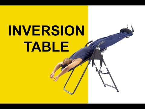 Inversion Table Spinal Decompression Therapy For Sciatica Herniated Discs Pros Cons