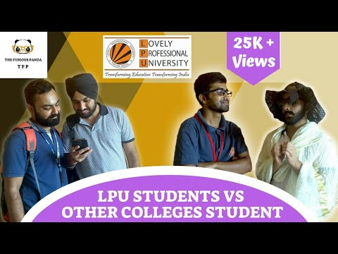 LPU Students vs Other Colleges Student || Lovely Professional University || Did You Know