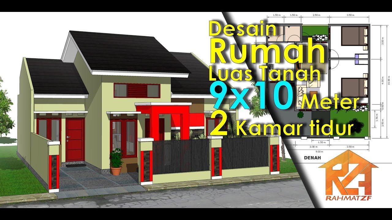 Desain Rumah Minimalis Luas Tanah 9x10 Meter Dengan 2 Kamar Tidur - YouTube