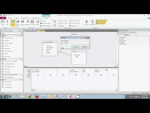 Microsoft Access 2010- Using Multiple Queries And The Concatenate Feature.