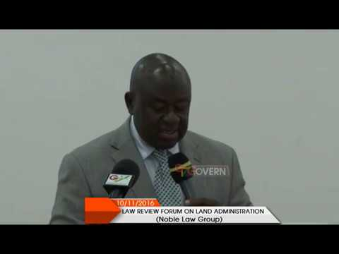 Ghana Law Review Forum on Land Administration
