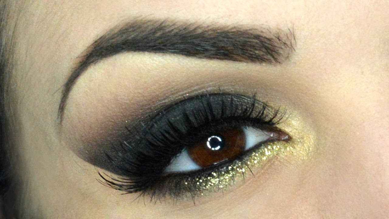 Estremamente Smokey Eyes nero e oro brillante - Makeup Tutorial Veloce - YouTube QJ23