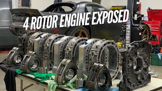 How we make 1400+ HP with a Rotary Engine. 4 Rotor Teardown