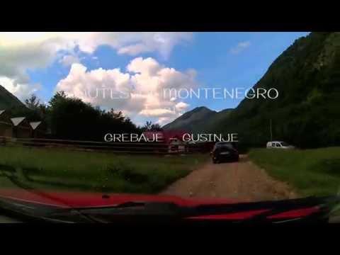 routes in Montenegro GREBAJE   GUSINJE