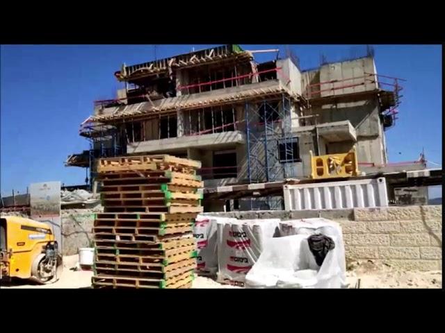 שערי בית שמש, ד2, על הנוף, הבניה מתקדמת