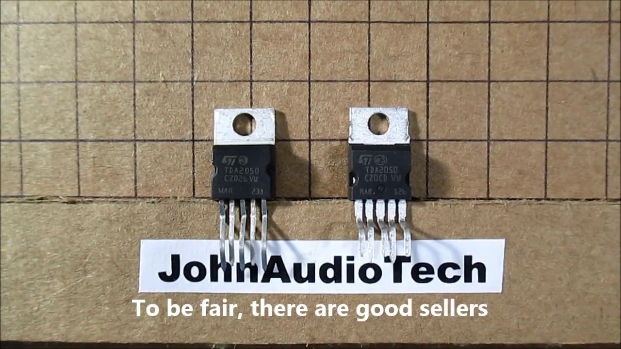 Counterfeit Vs Authentic Tda2050 Audio Amplifier Ic Test Youtube Circuit Using Tda2040 Electronic Circuits And