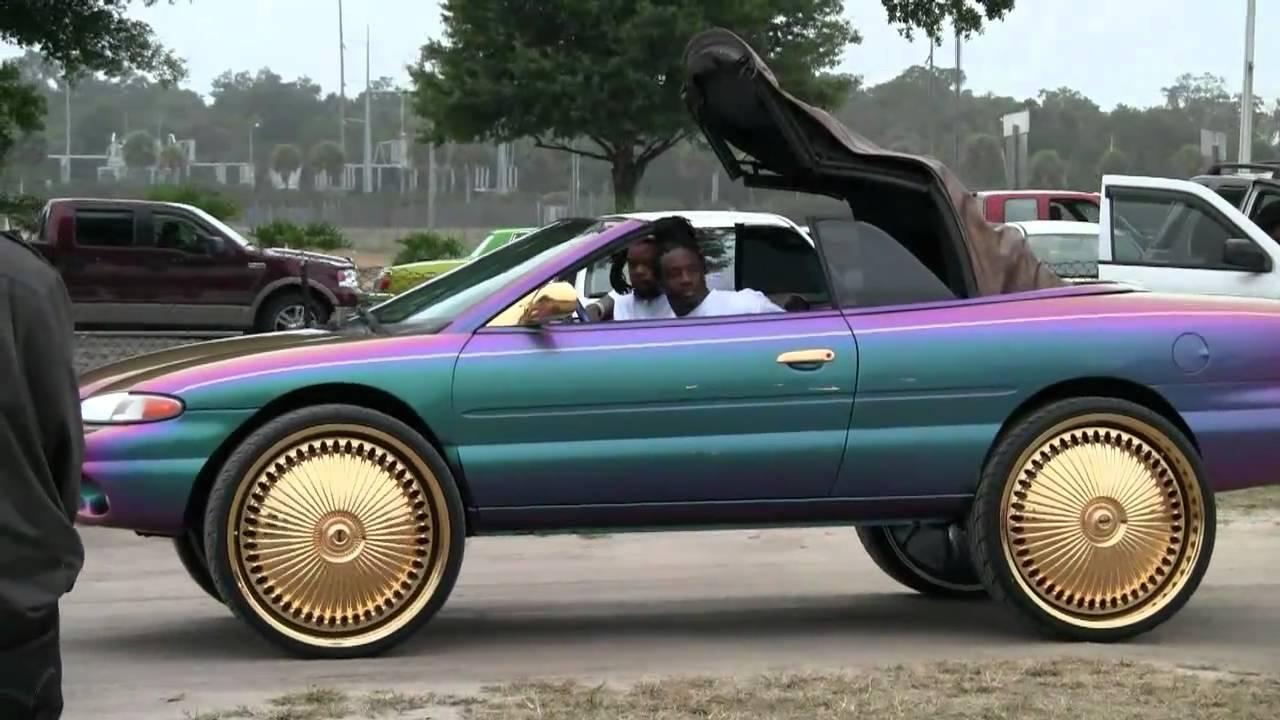 Rose Gold Dodge Challenger >> SEBRING ON 28 INCH GOLD RIMS- FINAL FLORIDA VID - YouTube