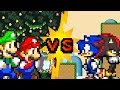 Mario and Luigi VS Sonic and Shadow (Part 2/2) - Sprite animation