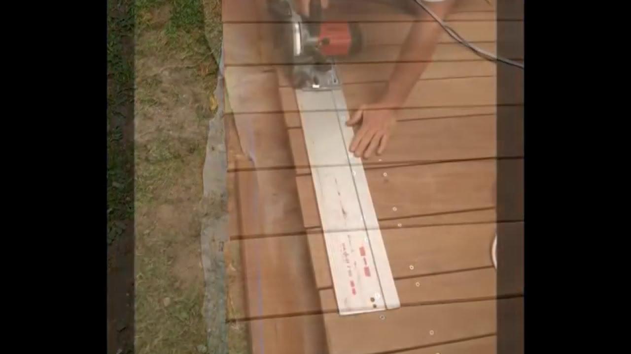 bricolage pose d une terrasse en bois - youtube - Construction Terrasse En Bois Sur Parpaing