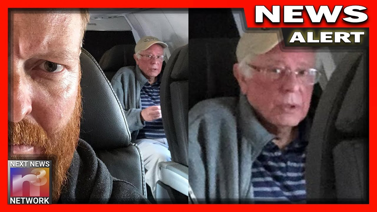 Man Photographs Bernie Sanders on Airplane - The Picture INSTANTLY Goes Viral For 1 Hilarious Reason