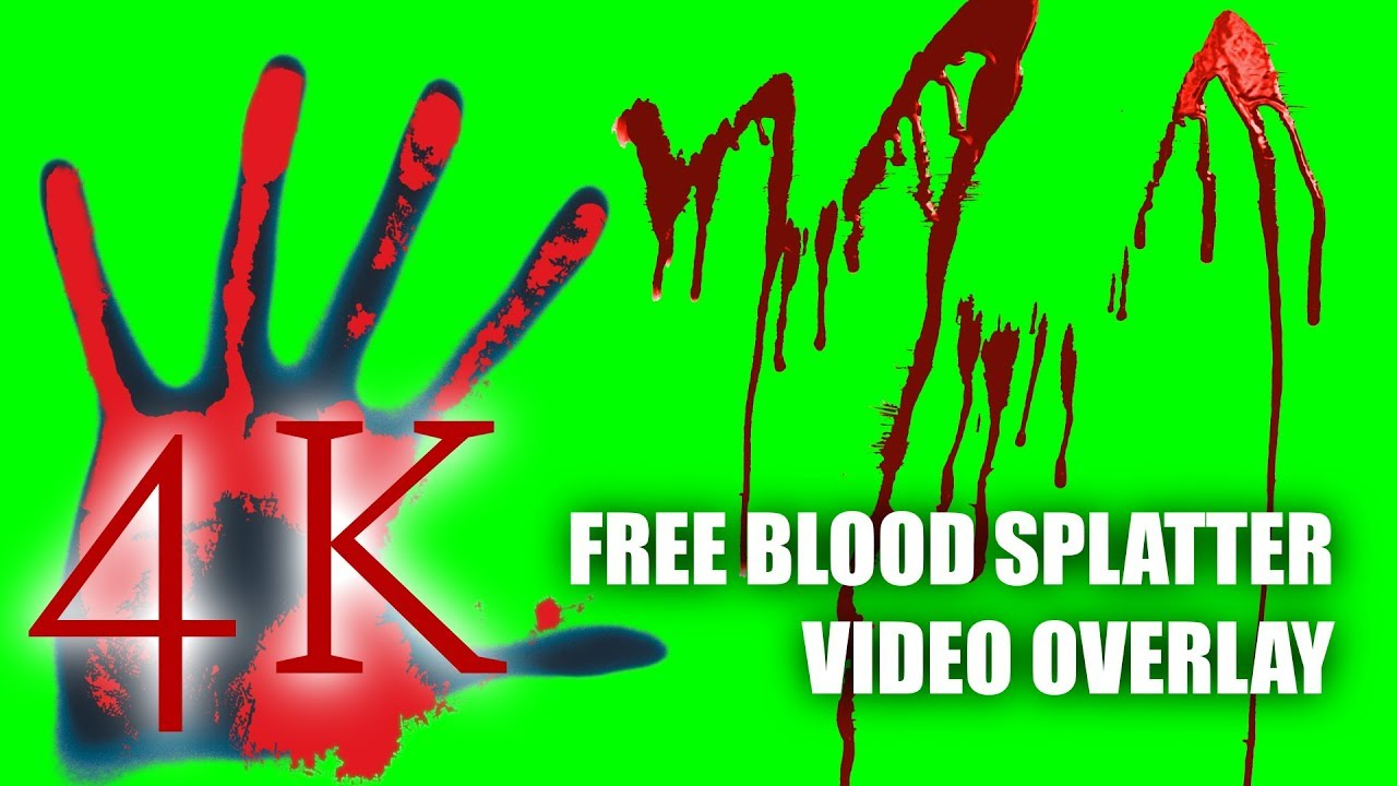 Free Blood Splatter Horror Video Overlays for Friday The 13th