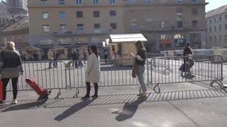 Mercados abiertos en Zagreb como parte de la relajación de medidas contra la COVID-19