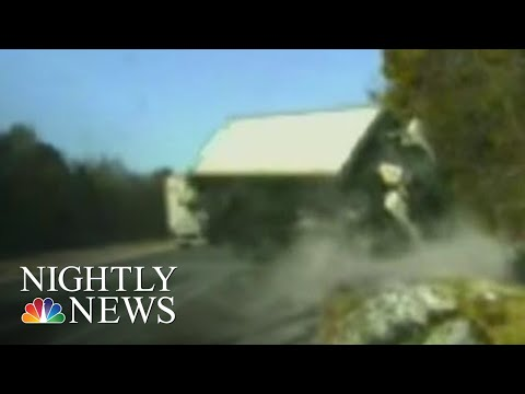 'Miracle' Rescue Caught On Camera After Truck Loses Control