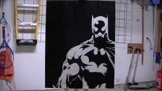 Batman Stencil Experiment