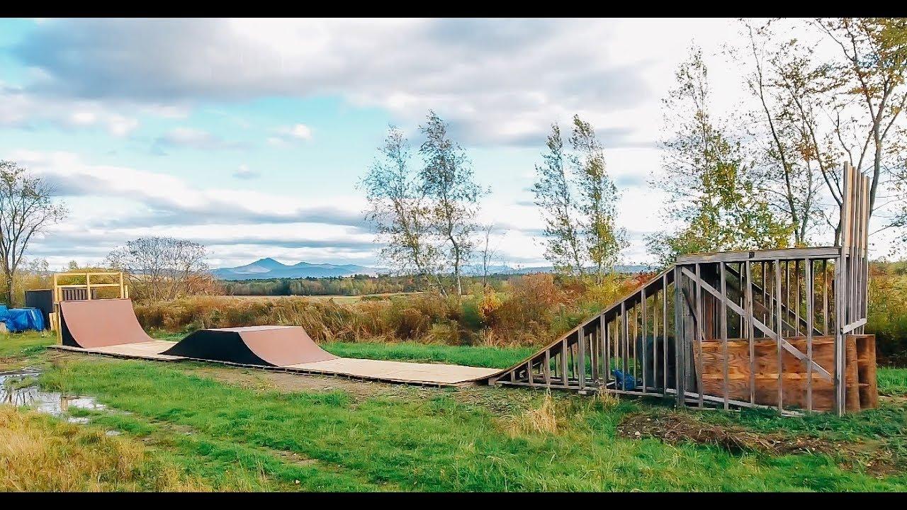 Building A Backyard Mega Ramp Youtube Backyard mini mega ramp