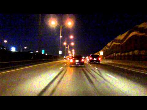 Lafontaine Expressway (Autoroute 25 Exits 4 to 10) northbound (Night)