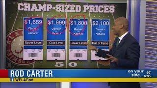 Alabama Clemson game ticket prices
