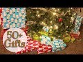 WRAP 50 CHRISTMAS GIFTS WITH ME ON TIME LAPSE!