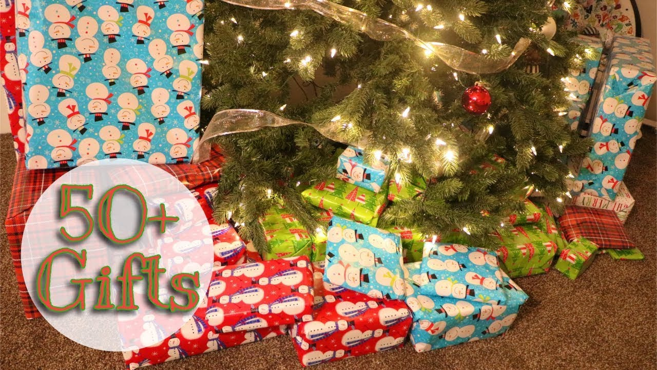 wrap 50 christmas gifts with me on time lapse