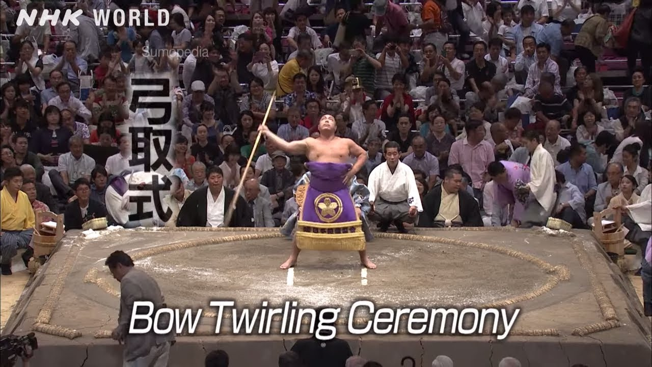 Photo of Bow Twirling Ceremony [弓取式] – SUMOPEDIA – video