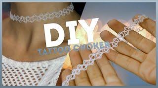 DIY: Tattoo Choker. Как сделать тату чокер?