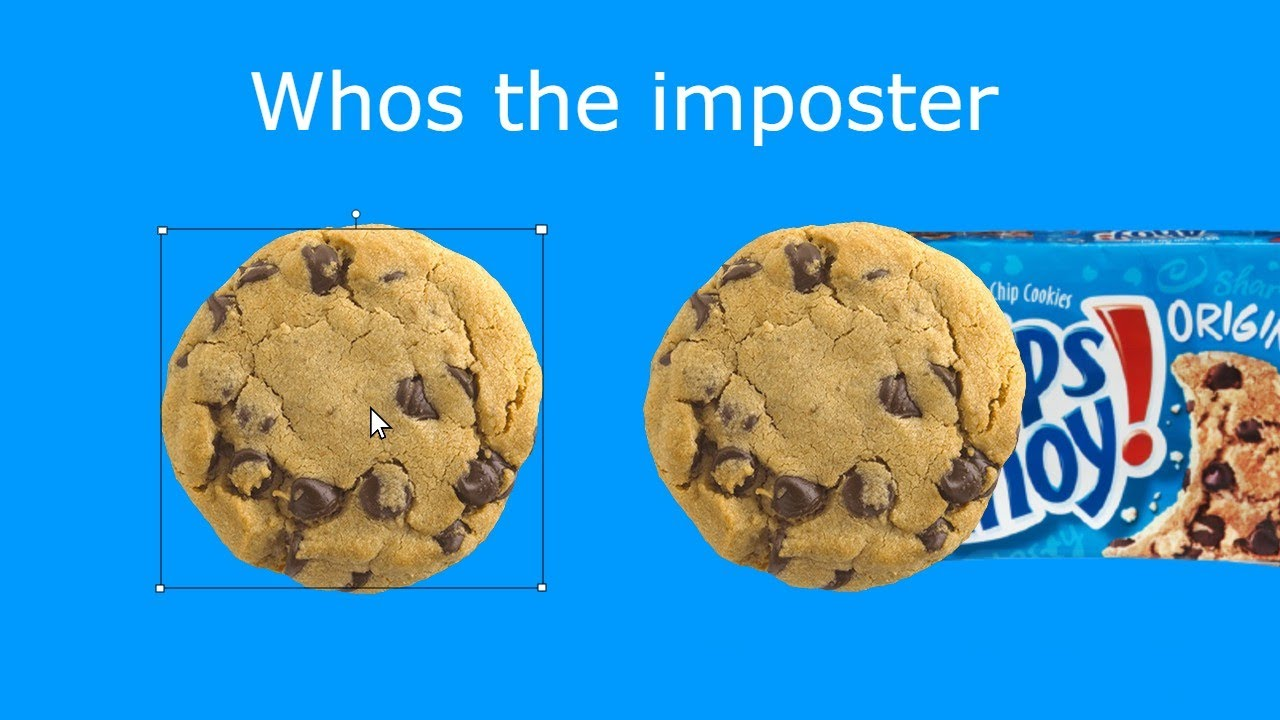 Chips Ahoy ad but the budget is really low