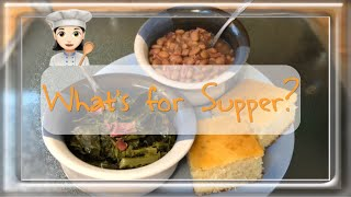 Cook With Me | Pinto Beans | Collard Greens | Cornbread