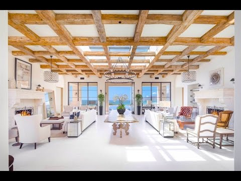 Beachfront Tuscan Villa in Malibu, California