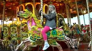 Zetland Park Funfair,Grangemouth 1.00 night Chloe on vintage carousel horse