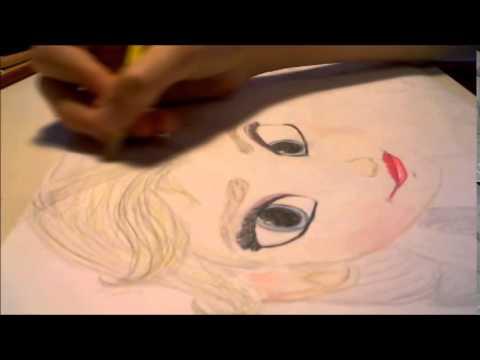 Disegno frozen youtube for Disegnare elsa frozen