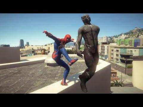 GTA 5 Spiderman Vs Black Panther #1 Funny Ragdolls Superheroes