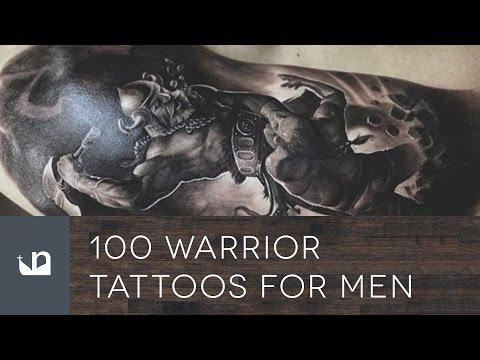 100 Warrior Tattoos For Men