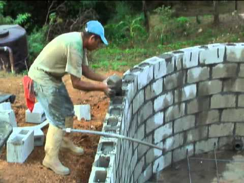 Build a swimming pool for under 3000 not impossible - Cinder block swimming pool construction ...
