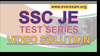 TEST SERIES SOLUTION OF SSC JE | WWW.EVEREXAM.ORG