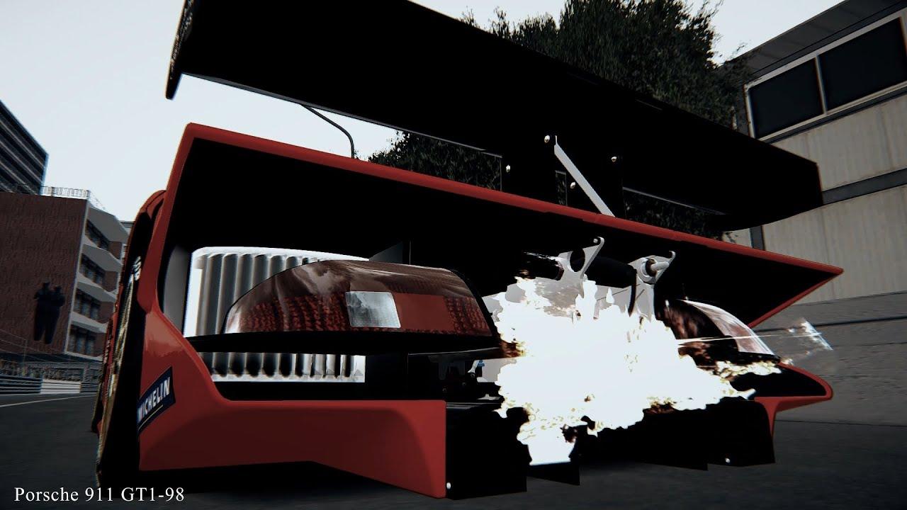 assetto corsa porsche 911 gt1 98 exhaust sound youtube. Black Bedroom Furniture Sets. Home Design Ideas