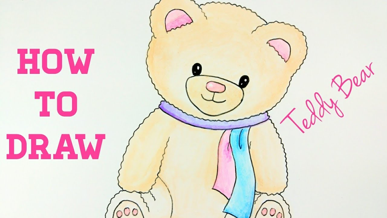 How To Draw Teddy Bear Easy Drawing Tutorial For Beginner Step