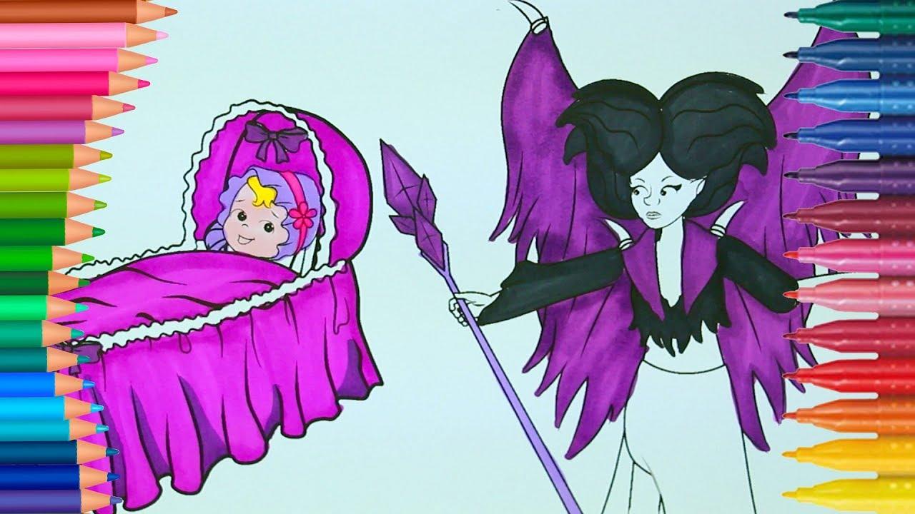 Uyuyan Güzel Aurora Ve Malefiz çizgi Film Karakteri Boyama