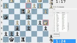 Chess World.net: LIVE Blitz #1579 vs IronWill (2320) - Sicilian: Najdorf, 7...Be7 (B98)
