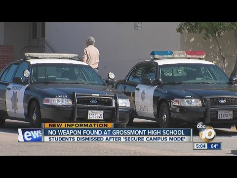 'Secure campus' mode lifted at Grossmont High School