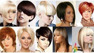 видео Модные женские причёски для средних волос: 50 фото