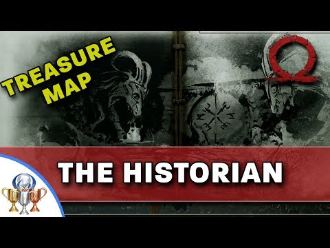God of War Treasure Map - The Historian - Map and Dig Spot Locations