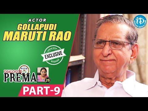 Gollapudi Maruti Rao Exclusive Interview Part #9 || Dialogue With Prema || Celebration Of Life
